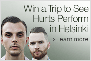 Win a trip to meet Hurts in Helsinki