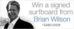 Win a signed surfboard from Brian Wilson