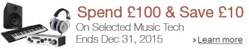 Save £10 on Music Tech