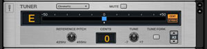 Tune your Guitar quickly & accurately with the software's built-in digital tuner