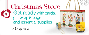 Stationery & Office Supplies Christmas Store--christmas cards, gift wrap & wrapping supplies and more