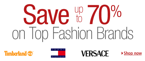 Up to 70% off top fashion brands