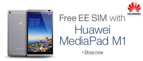 Free EE Sim with the Huawei MediaPad M1
