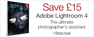 Save 15 pounds on Lightroom 4