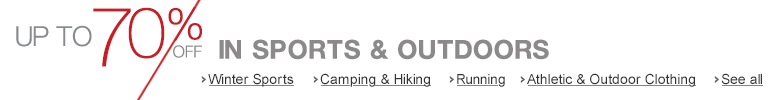 Explore the Sports & Outdoors Outlet