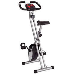 Ultrasport F-Bike exercise bike with pulse sensor grips, foldable