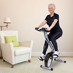 Ultrasport F-Bike exercise bike with pulse sensor grips, foldable - Zusatzbild