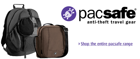 Pacsafe anti-theft travel gear