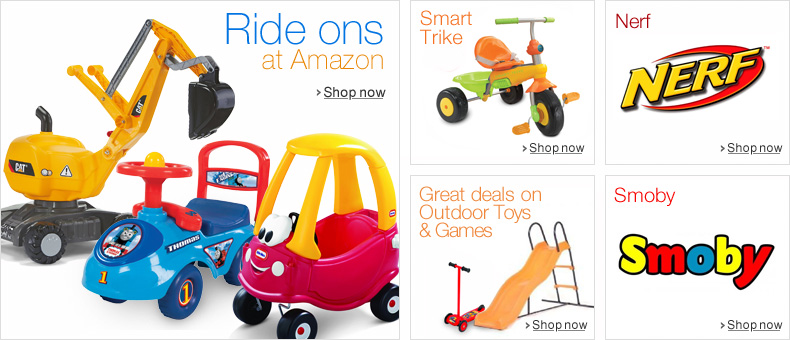 Ride-ons at Amazon