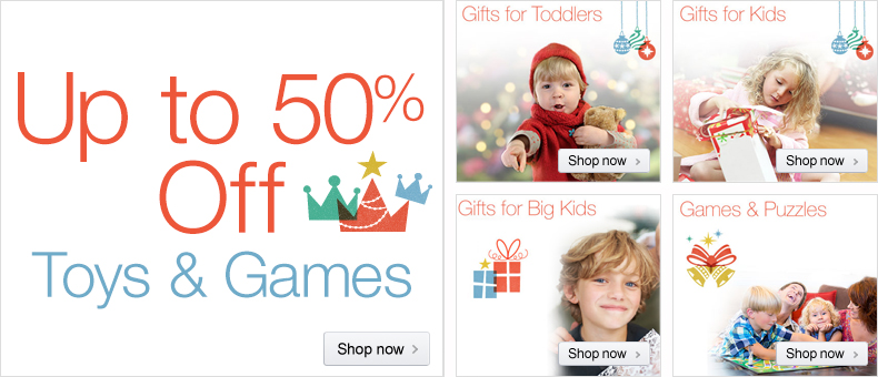 Up to 50% Off Toys & Games