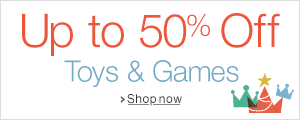 Up to 50% off selected Toys and Games