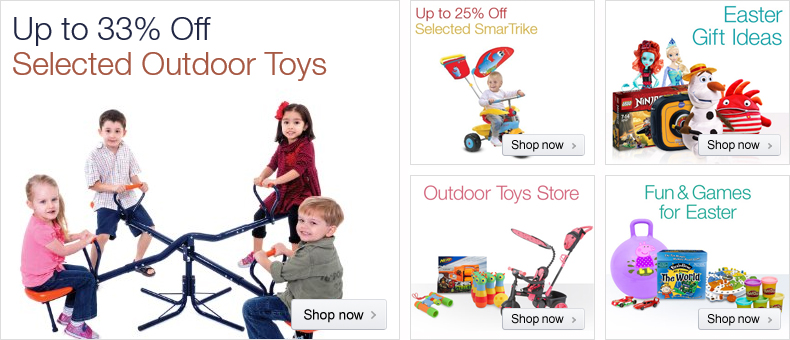 33% off selected outdoor toys
