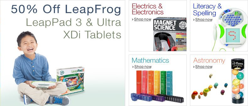 50% Off Selected LeapFrog LeapPads