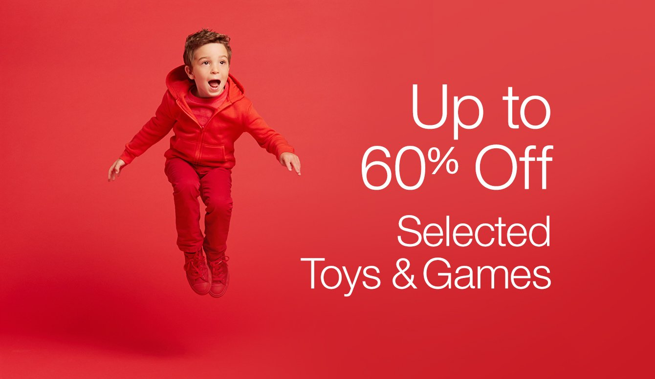 Up to 50% Off Selected Toys & Games