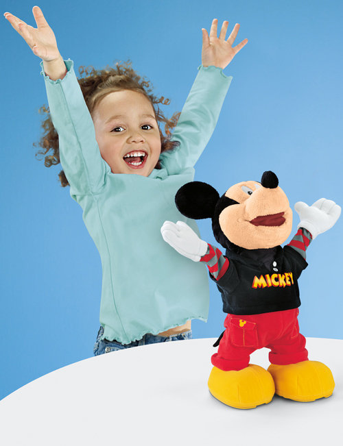 Dance Star Mickey with child