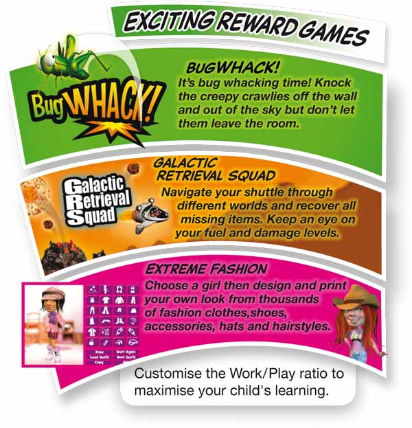 The BRAINtastic Maths Reward Games