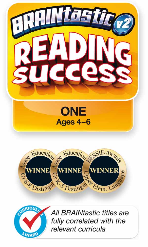 The BRAINtastic Reading Success ONE Logo and Icons
