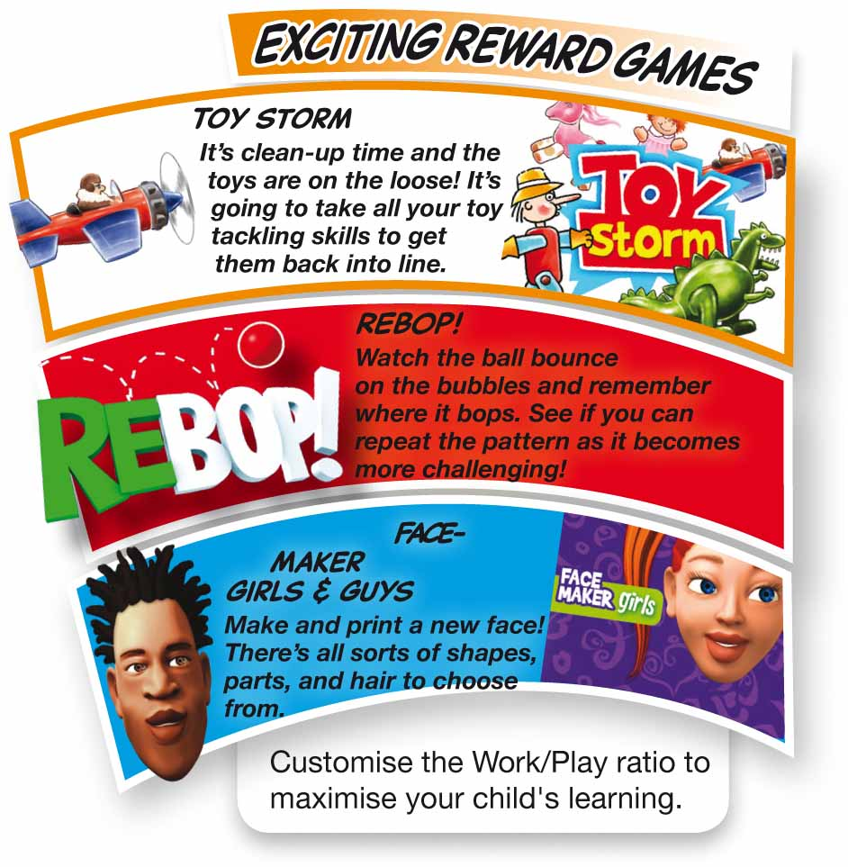 The BRAINtastic Reading Success Reward Games
