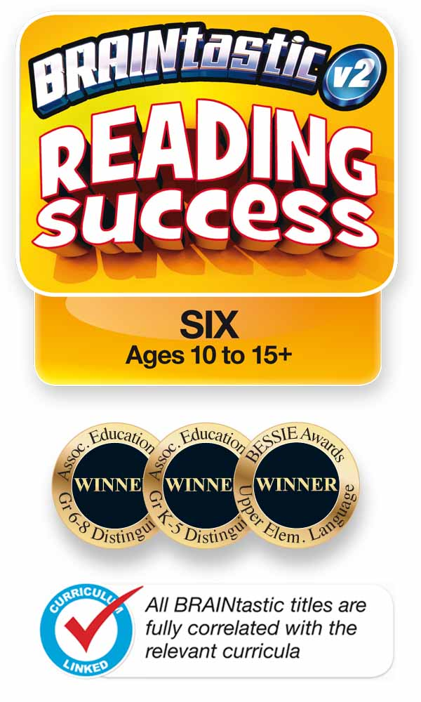 The BRAINtastic Reading Success Logo and Icons