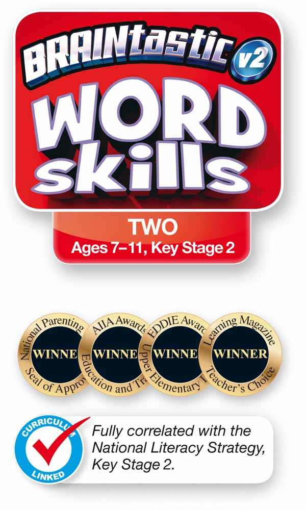 The BRAINtastic Word Skills TWO Logo and Icons