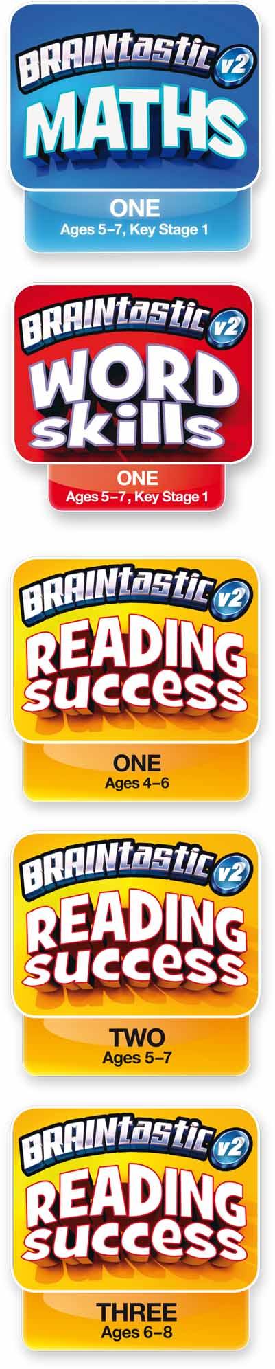 Titles included in BRAINtastic v2 Key Stage 1 Value Bundle