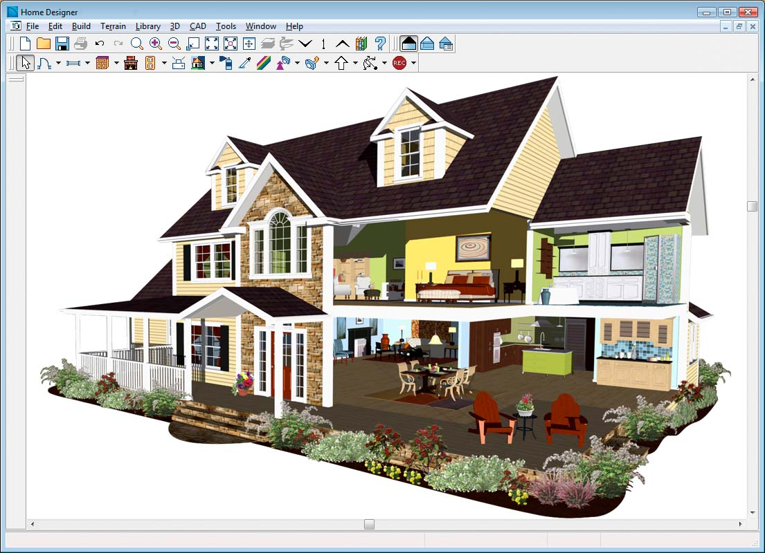 Chief architect suite designer 2012 pc for Exterior home design program