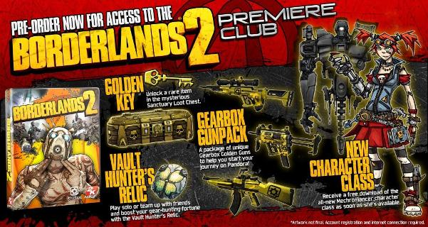 Borderlands 2 Pre-Order Bonus