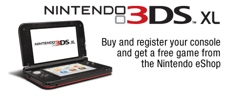 Free Game Download When You Buy a 3DS XL
