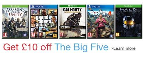 Get £10 off the Big Five