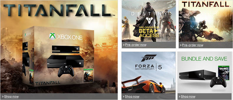 Xbox One Homepage Offers
