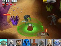 Using force powers against a droid in LEGO Star Wars III: The Clone Wars for DS