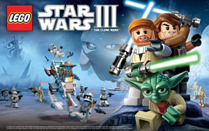 Key art for LEGO Star Wars III: The Clone Wars