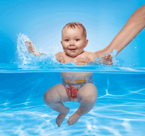 Baby Swimming on Holiday