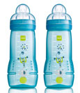 Baby Bottle 330 ml 2-pack (Blue)