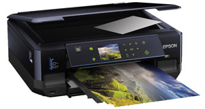 Print high-quality photos and documents from one compact all-in-one printer