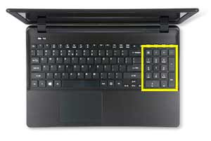 Acer Aspire E series Laptop Numeric Keyboard