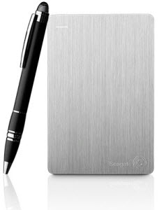 Seagate Slim 500GB Portable Hard Drive - Silver