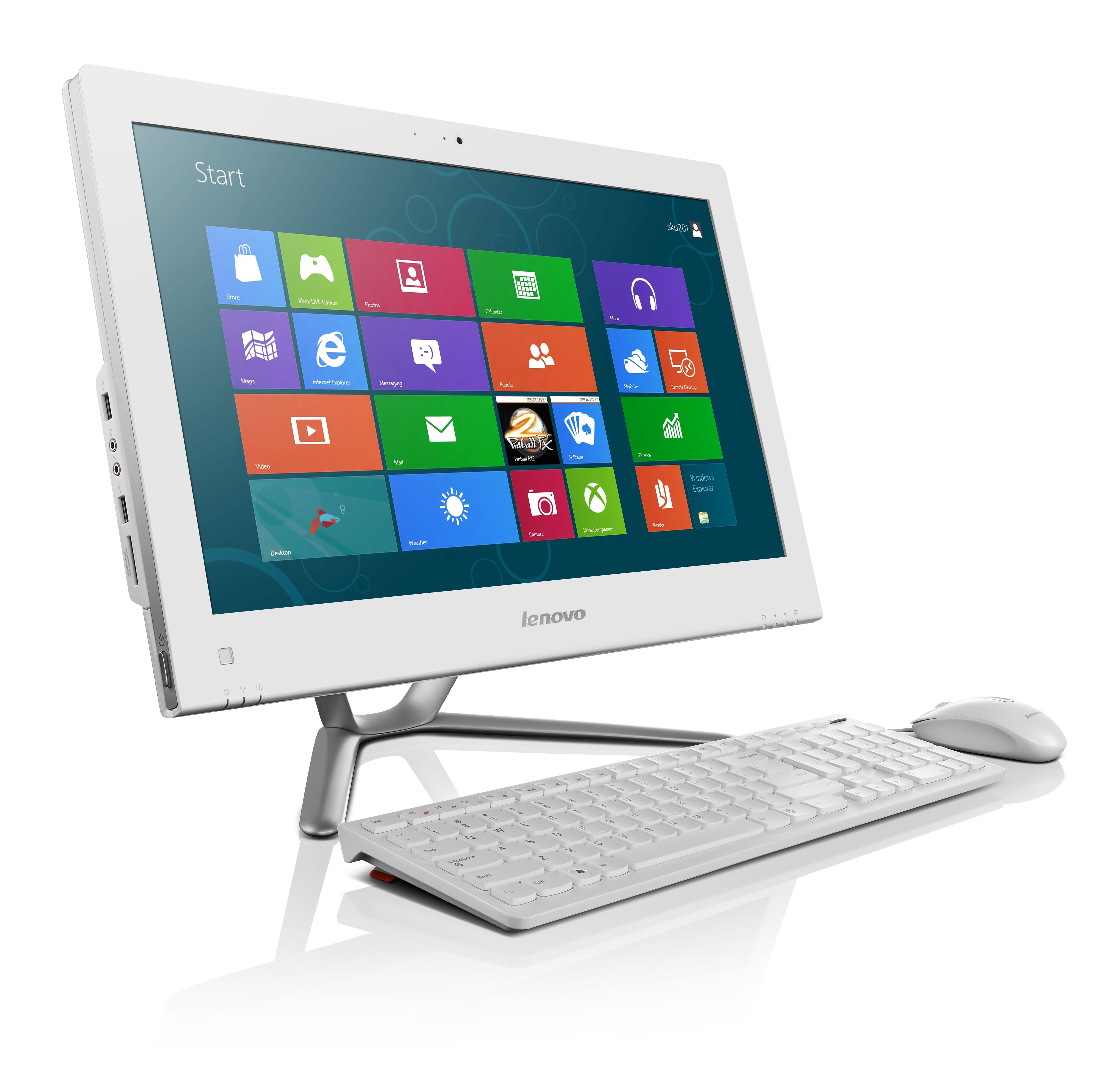 Lenovo C345 20-inch All-in-One Desktop PC - (Black) (AMD ...