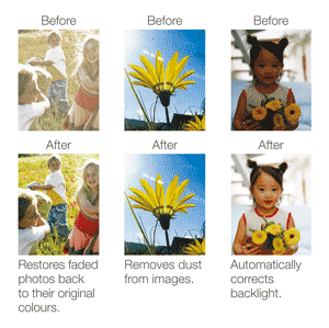 Epson Easy Photo Fix before and after examples