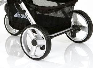 Swivel front wheels