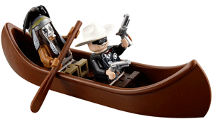 Lone Ranger and Tonto in canoe