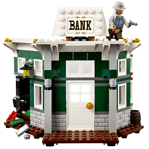 Town bank and bandit