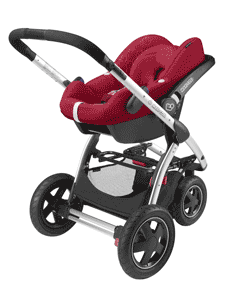 Travel system ready with colour-matching Maxi-Cosi CabrioFix and Pebble car seat