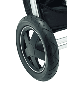 Three large all-terrain wheels filled with foam