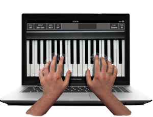 Work quickly with 10-finger touchscreen