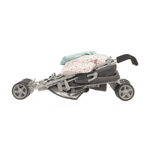 In stroller mode with options to be forward- or rearward-facing