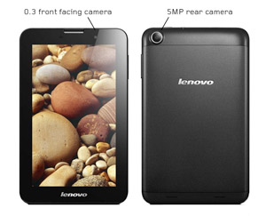 The Lenovo A3000 features rear and front-facing cameras