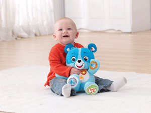 Cody also teaches your baby about body parts, and can sing downloadable songs and melodies to them.