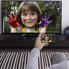 See your smartphone on the big screen with screen mirroring