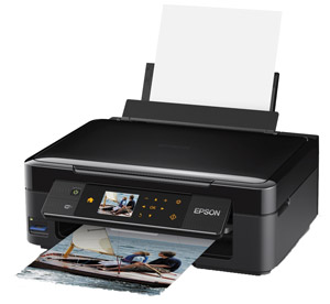 The XP-412 printer features a 6.4cm LCD screen and easy touch panel operation.
